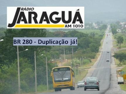 Ministros lançam edital de duplicação da BR 280 dia 24