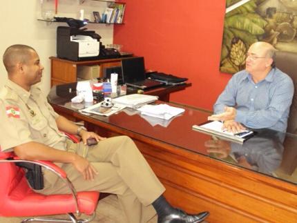Comandante da PM de Guaramirim confirma saída a prefeito