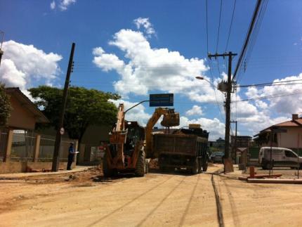 Obras na Marechal complicam trânsito em Jaraguá do Sul