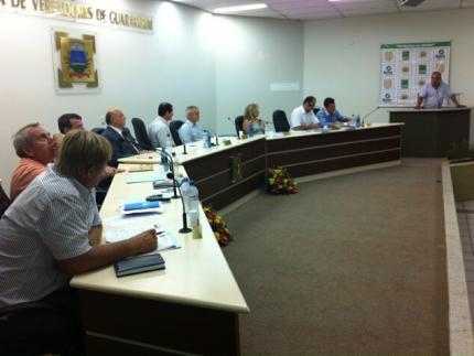Começam as sessões da Câmara de Guaramirim