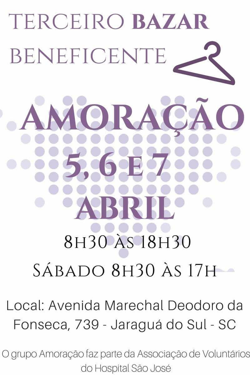 e56c78b2fb5 Grupo AMORAÇÃO promove 3º Bazar Beneficente na próxima semana ...