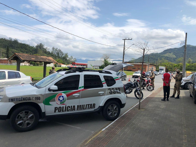 14º BPM realiza a Operação Presença em Jaraguá do Sul e região